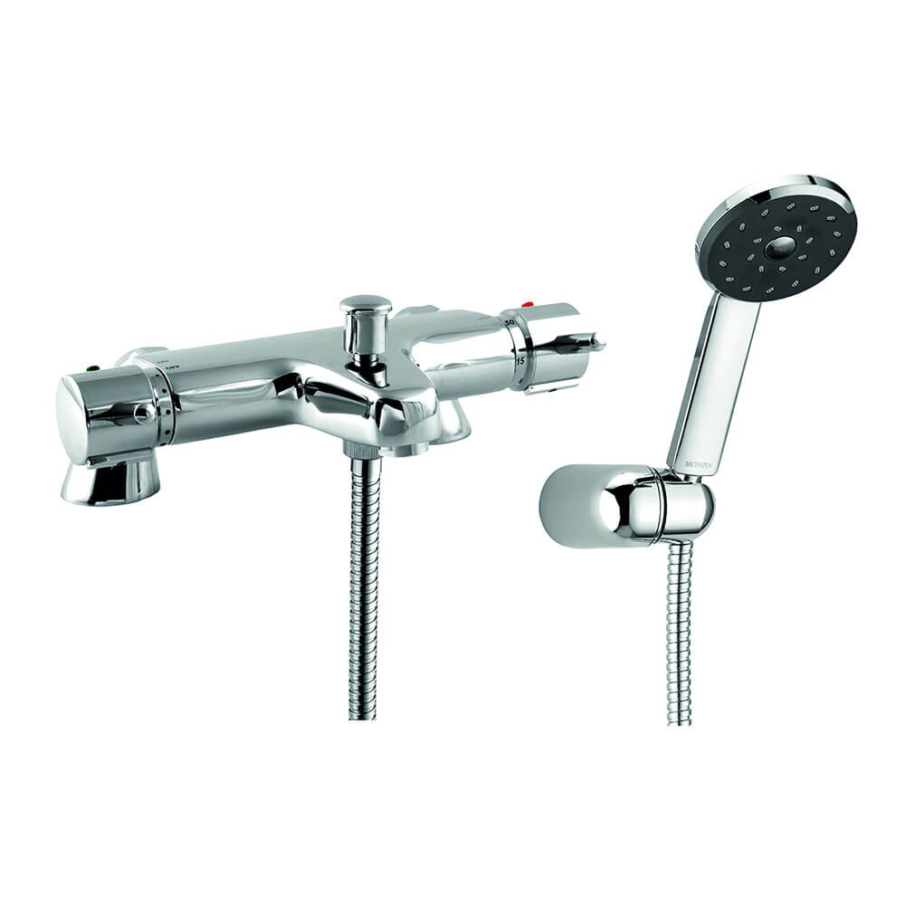 Kiri Pillar Mounted Thermostatic Bath Shower Mixer With Bracket Kit Collection Collections Methven Uk