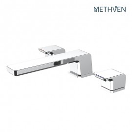 Kiri 3 hole deck mounted basin mixer