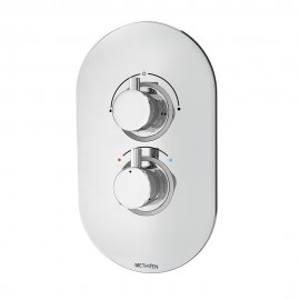 Kaha Concealed Mixer Valve (2 outlets) with ABS Plate