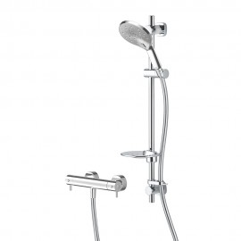 Kaha Cool To Touch Bar Mixer With Easy Fit Shower Kit