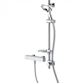 Aurajet Aio Cool To Touch Bar Mixer With Easy Fit Shower Kit