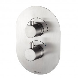 Tūroa Concealed Thermostatic Mixer Valve with Integrated Diverter (2 outlets)