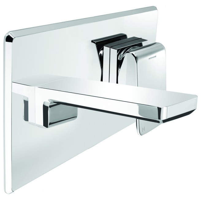 Kiri Wall Mounted Bath Mixer with Plate