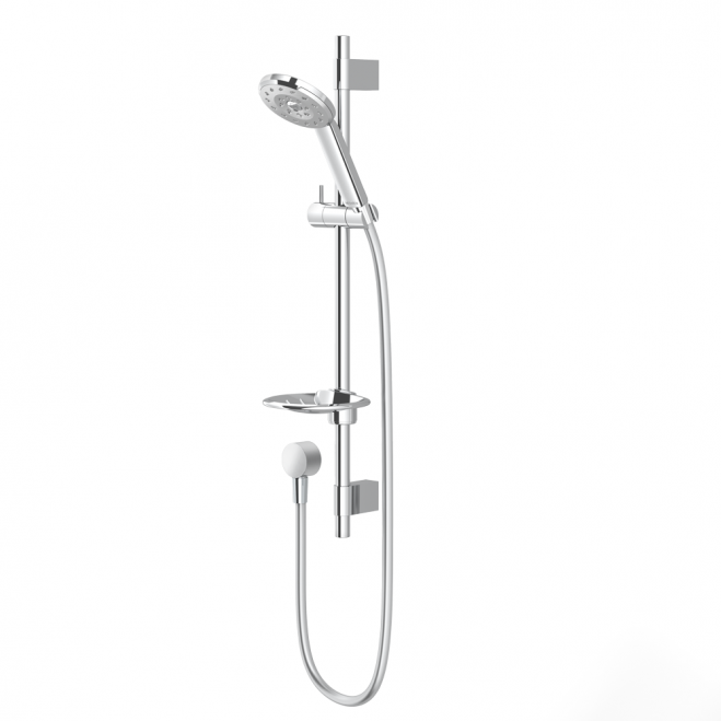 Kiri Satinjet Chrome Rail Shower