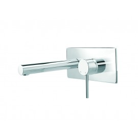 Minimalist Wall Mounted Bath Mixer with Plate