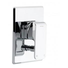 Kiri Shower Mixer with Diverter - Brass Plate