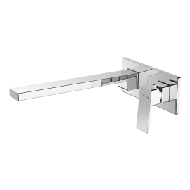 Blaze Plate Mount Bath Mixer with 300mm Spout