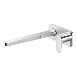 Glide Plate Mount Bath Mixer with 300mm Spout