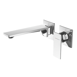 Surface Wall Mounted Bath Mixer with Spout