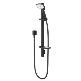 Waipori Satinjet Slide Rail Shower (Matte Black & White)