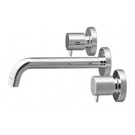 Minimalist 3 Hole Wall Mounted Faucet