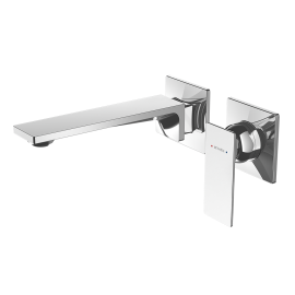 Surface Wall Mounted Mixer with Spout